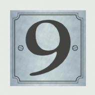 Classic Designs House Number Silver - No 9